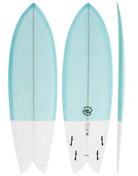 Modern Wild Child Blue Surfboard